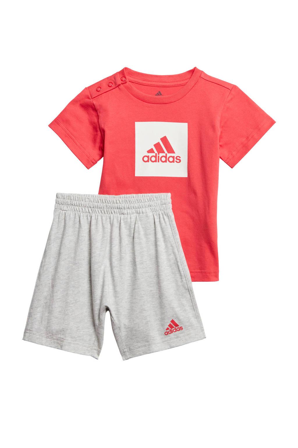 adidas Performance   sportset rood/lichtgrijs, Rood/lichtgrijs