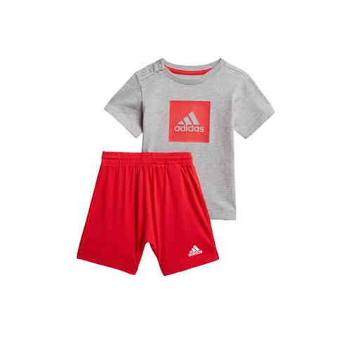adidas Performance sportset grijs/rood