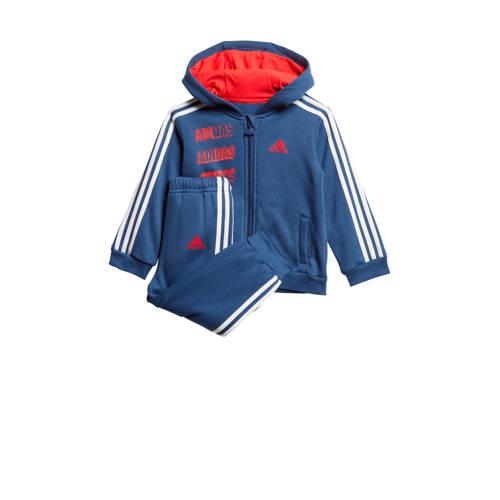 adidas performance joggingpak blauw-wit-rood