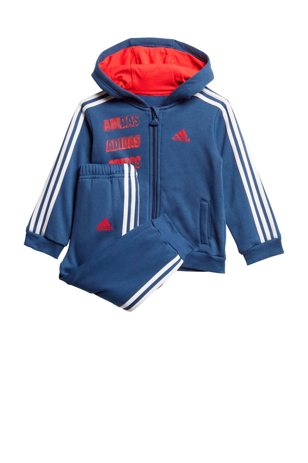 adidas Performance   joggingpak blauw/wit/rood, Blauw/wit/rood