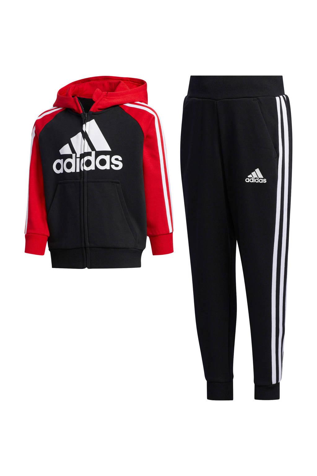 adidas Performance   joggingpak zwart/rood, Zwart/rood