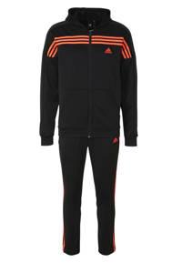 adidas Performance   trainingspak zwart/rood, Zwart/rood