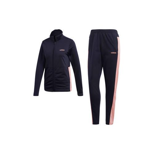 adidas performance trainingsbroek donkerblauw-roze