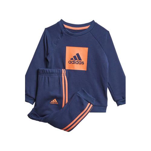 adidas Performance joggingpak donkerblauw-oranje
