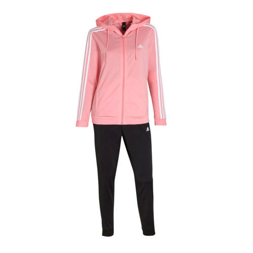 adidas performance trainingspak zwart-roze-wit