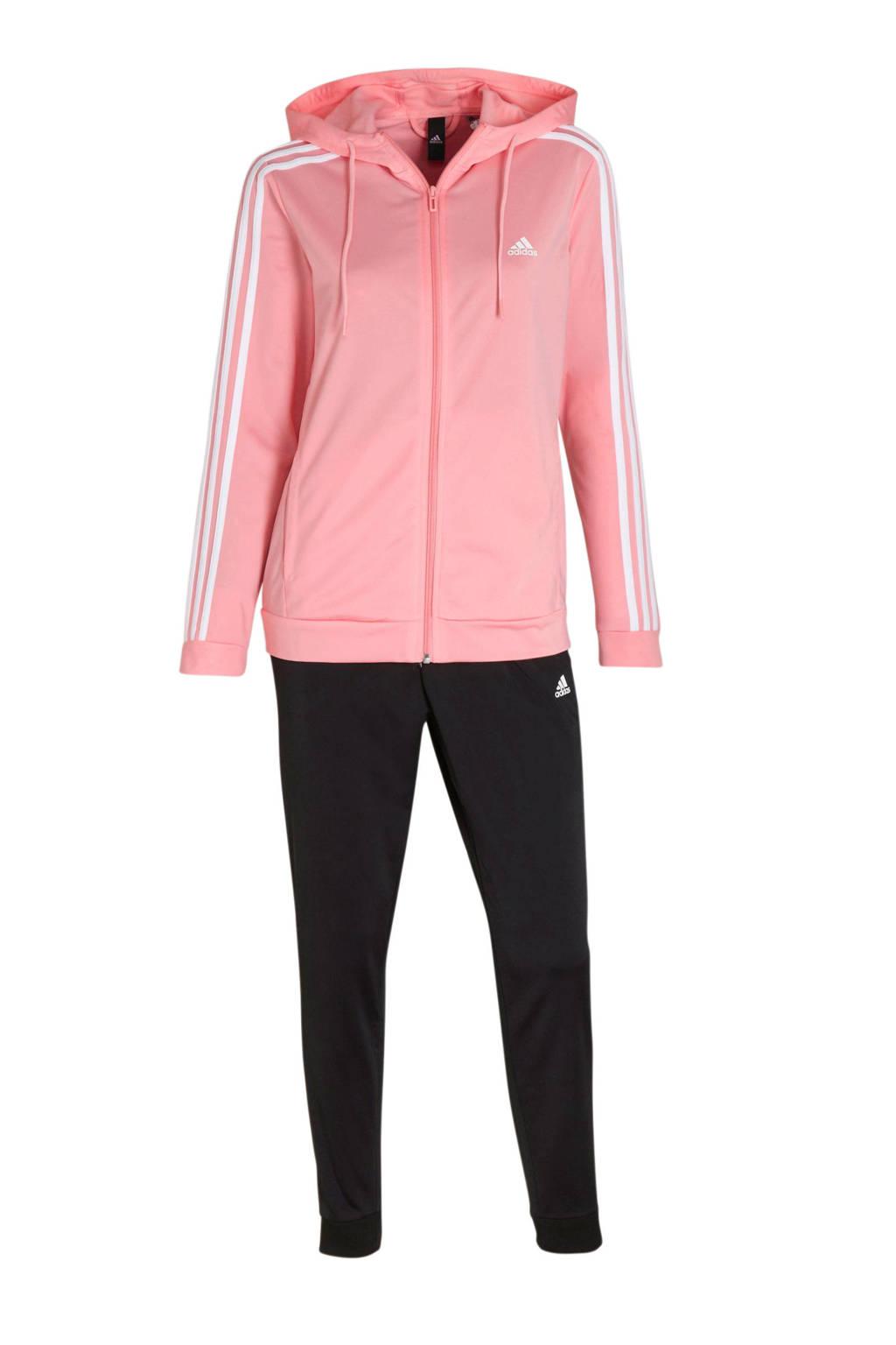 adidas Performance trainingspak zwart/roze/wit, Roze/zwart/wit
