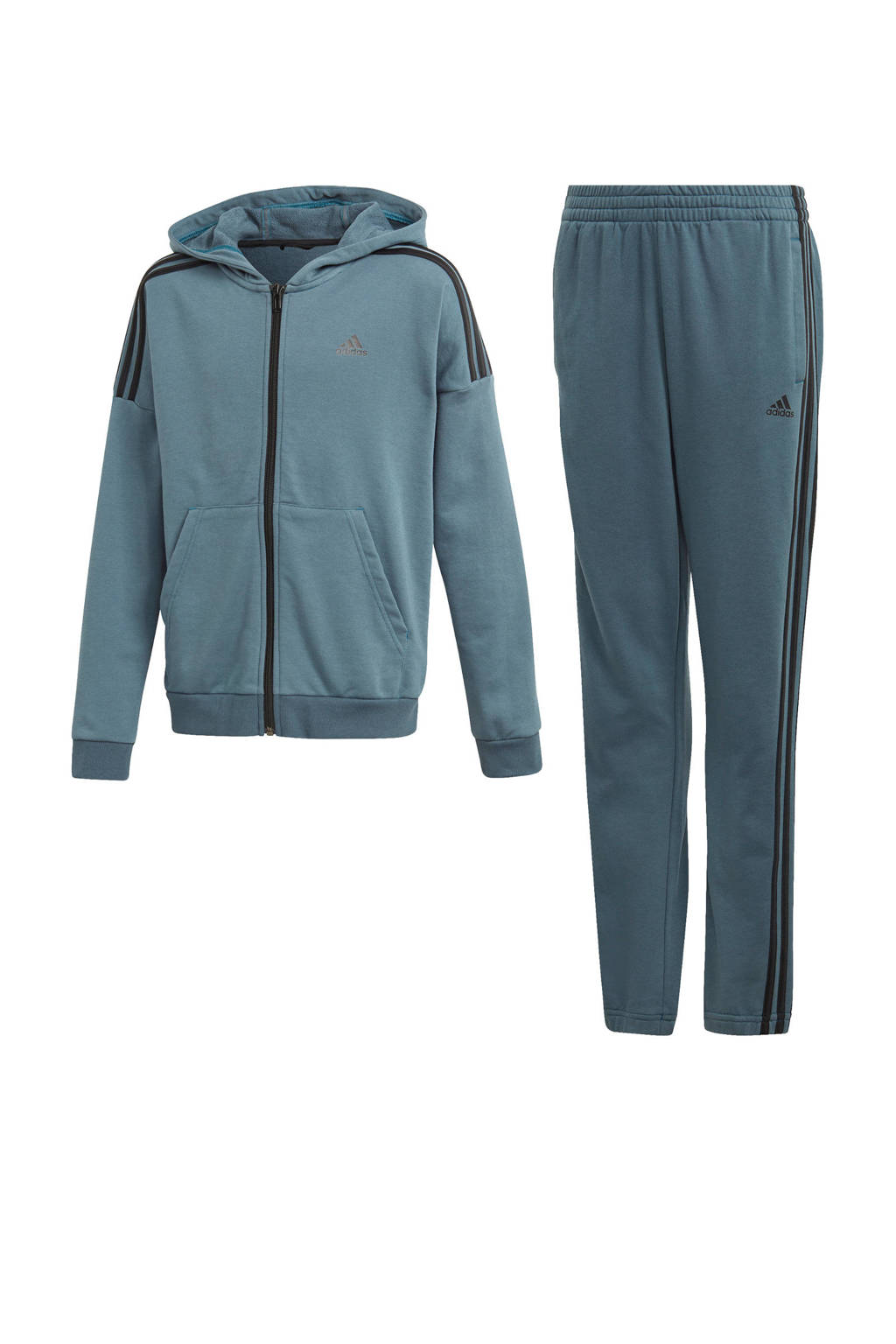 adidas Performance   joggingpak grijs/blauw, Grijs/blauw