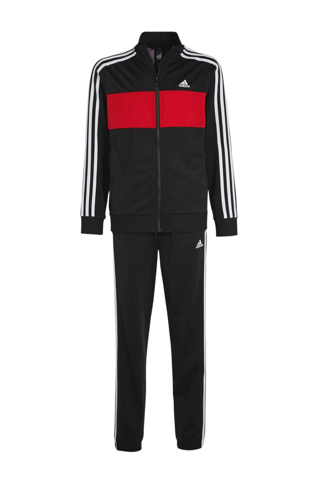 adidas Performance   performance trainingspak zwart/rood, Zwart/rood