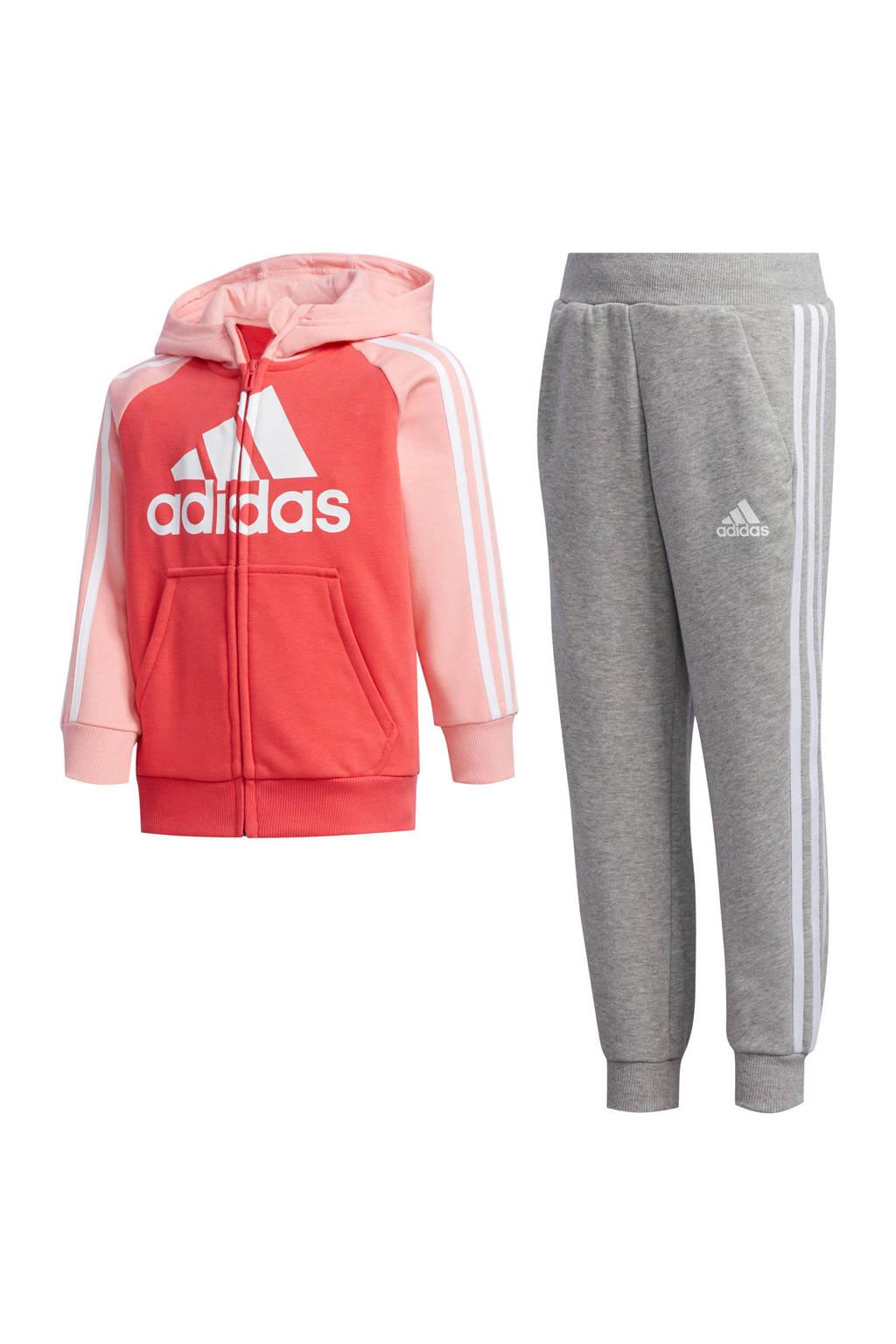 adidas joggingpak roze/grijs, Roze/grijs