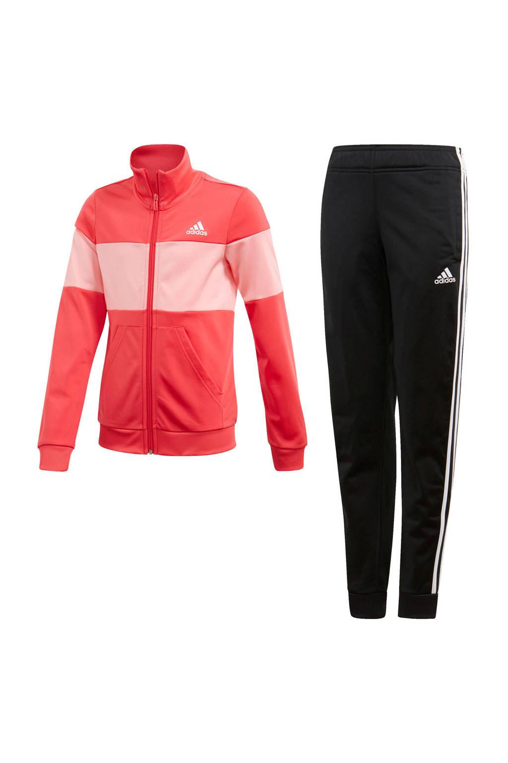 adidas trainingspak zwart/roze, Zwart/roze