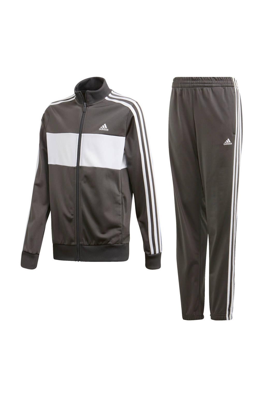 adidas Performance   trainingspak grijs/wit, Grijs/wit