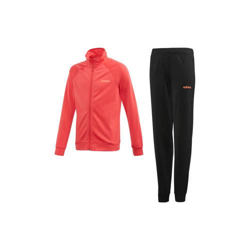 adidas performance trainingspak roze-zwart
