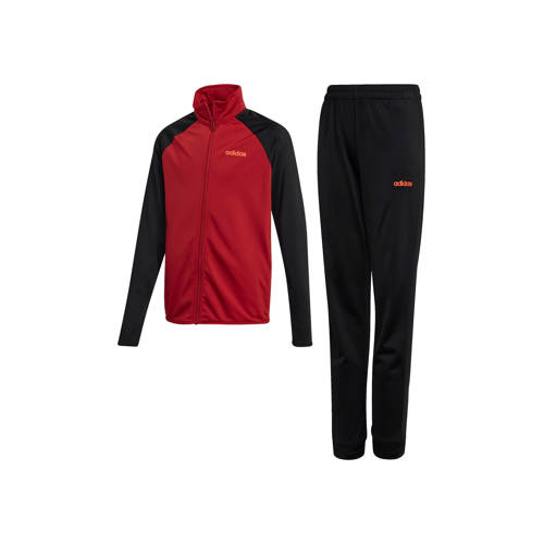 adidas performance trainingspak rood-zwart