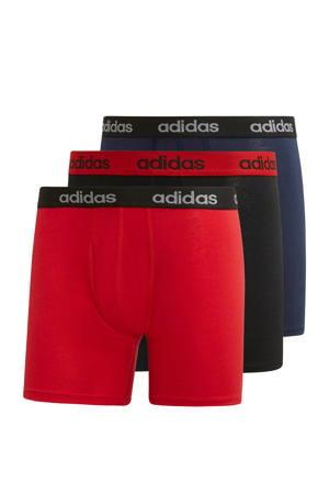 sportboxer rood/zwart/donkerblauw (set van 3)