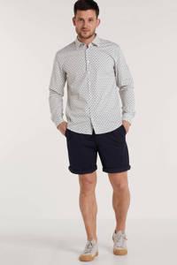 BOSS Menswear slim fit overhemd met all over print wit, Wit