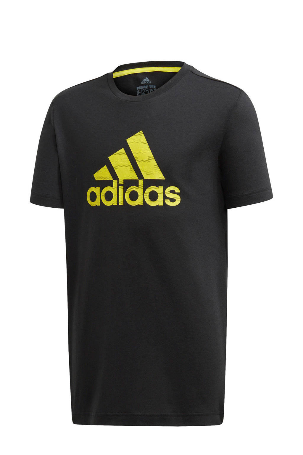 adidas Performance   sport T-shirt zwart/geel, Zwart/geel