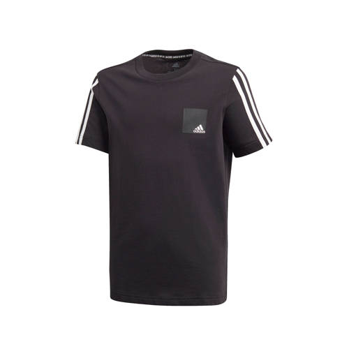 adidas Performance sport T-shirt zwart/wit