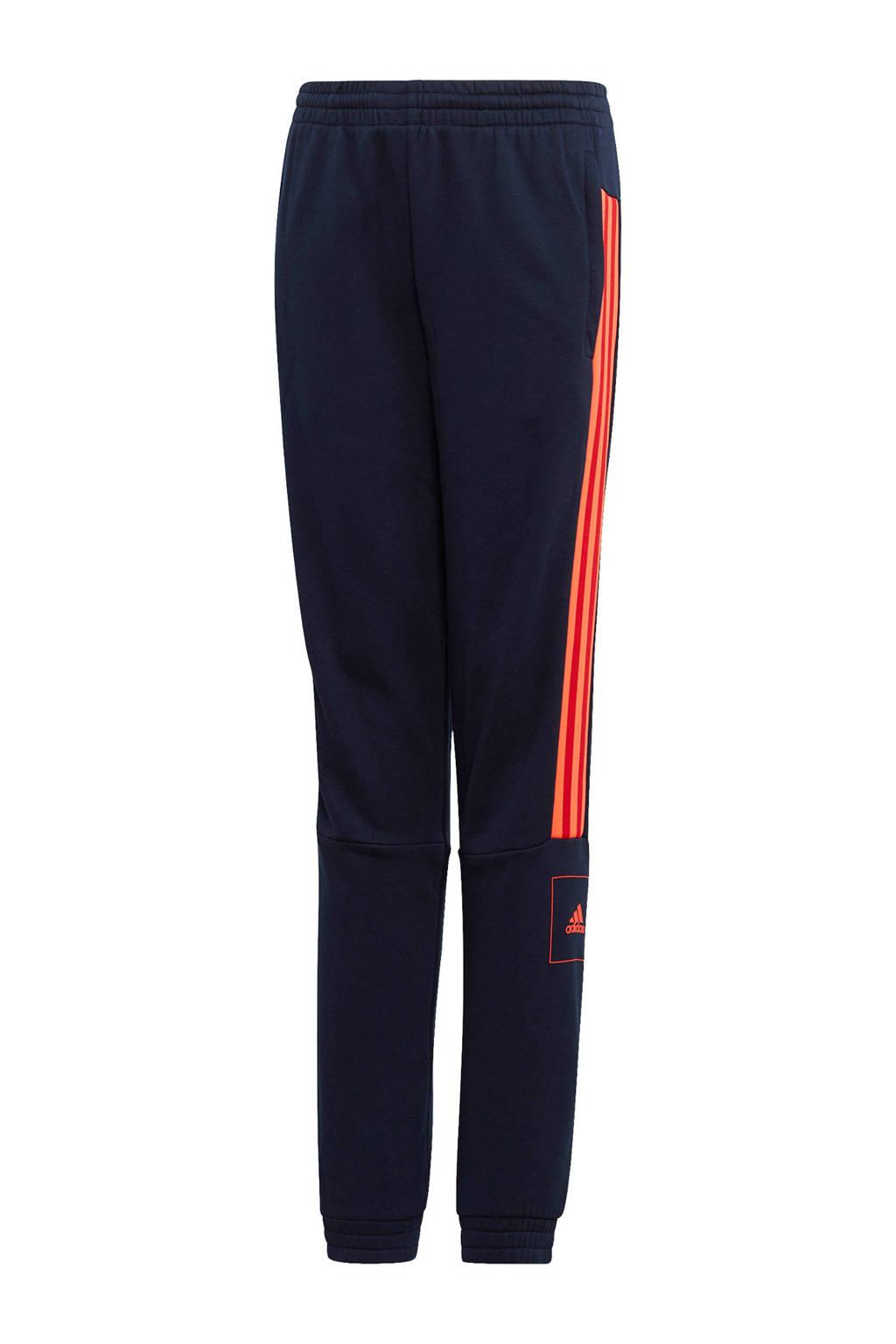 adidas   sportbroek donkerblauw/rood, Donkerblauw/rood