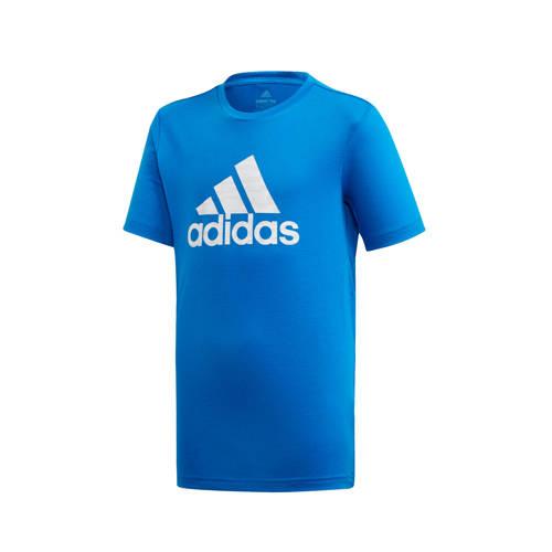 adidas Performance sport T-shirt blauw/wit