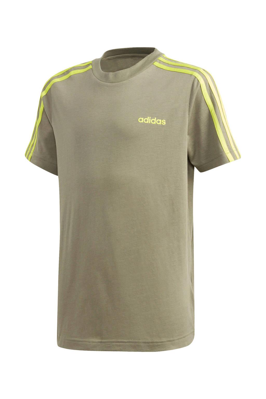 adidas   sport T-shirt bruin, Bruin