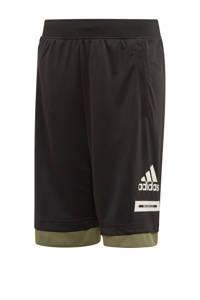 adidas Performance   sportshort zwart/kaki, Zwart/kaki