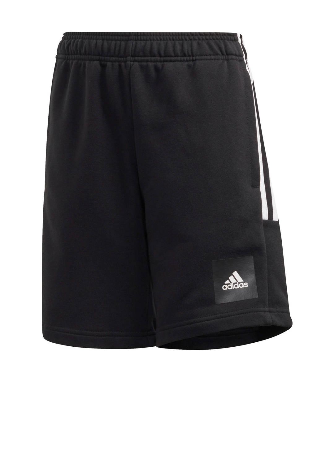 adidas   sportshort zwart/wit, Zwart/wit