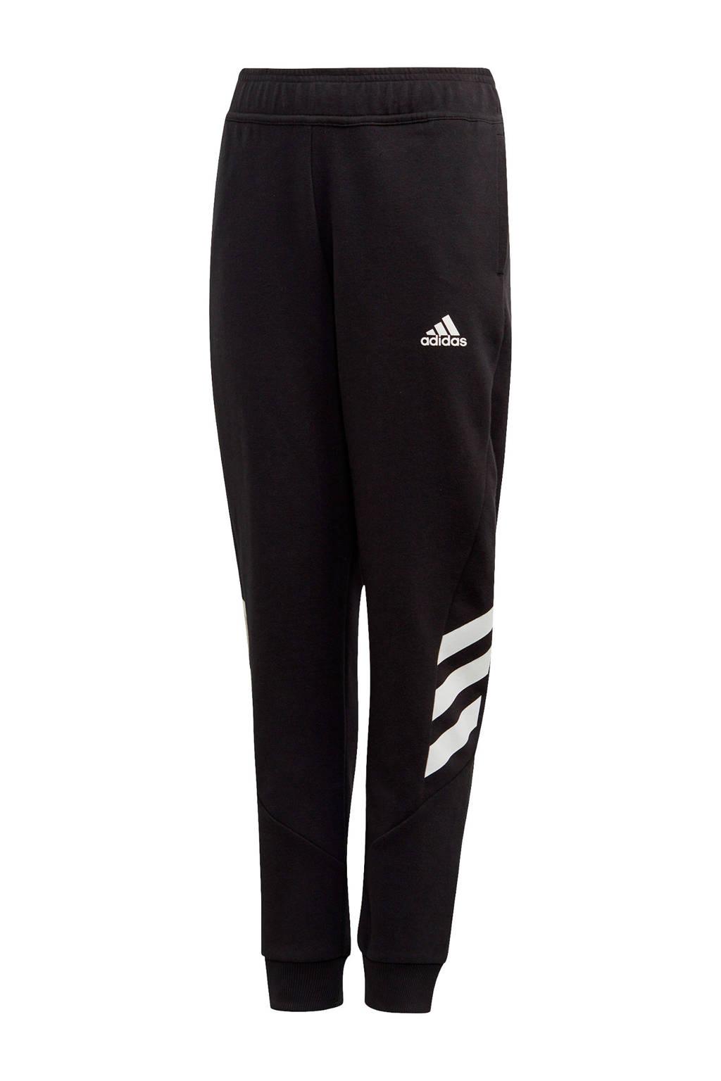 adidas joggingbroek zwart/wit, Zwart/wit