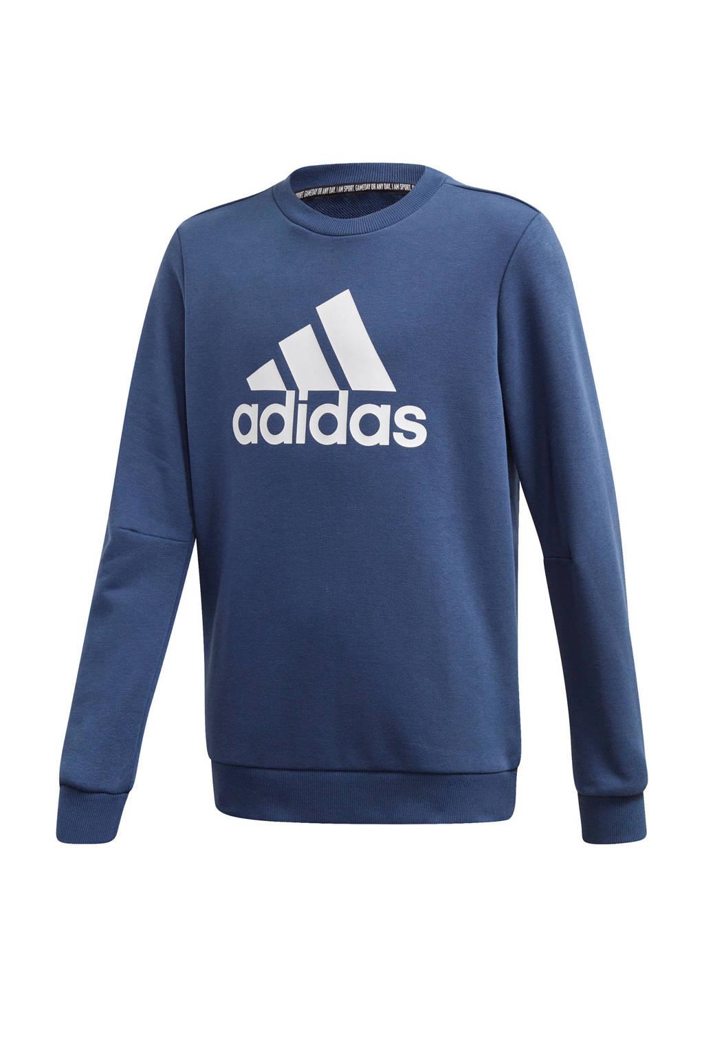 adidas   sportsweater blauw, Blauw