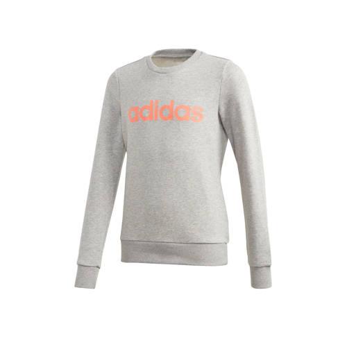 adidas Performance sportsweater grijs/oranje