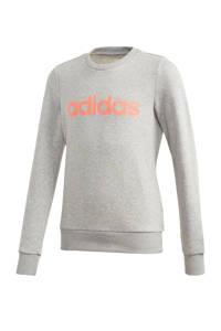 adidas Performance sportsweater grijs/oranje, Grijs melange/oranje