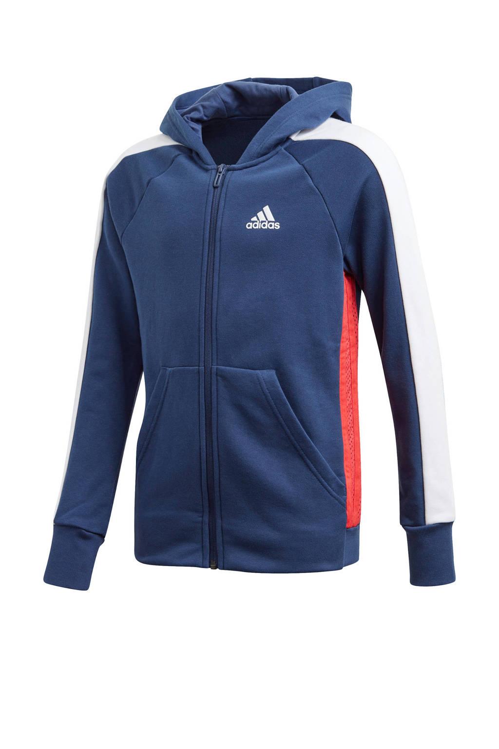 adidas Performance sportvest blauw/wit/rood, Blauw/wit/rood