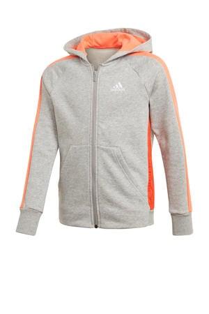 sportvest grijs melange/oranje