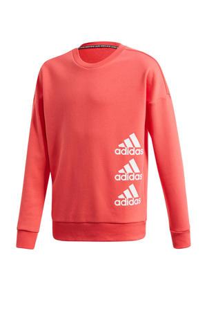 sportsweater koraalrood/wit