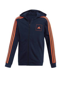 adidas Performance   sportvest donkerblauw/oranje, Donkerblauw/rood
