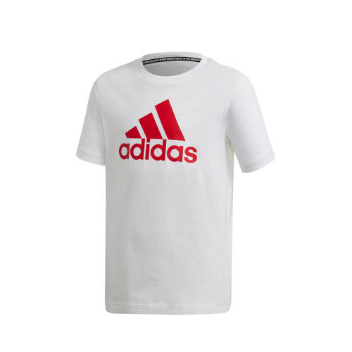 adidas Performance sport T-shirt wit/rood