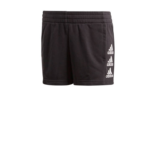 adidas Performance joggingshort zwart/wit
