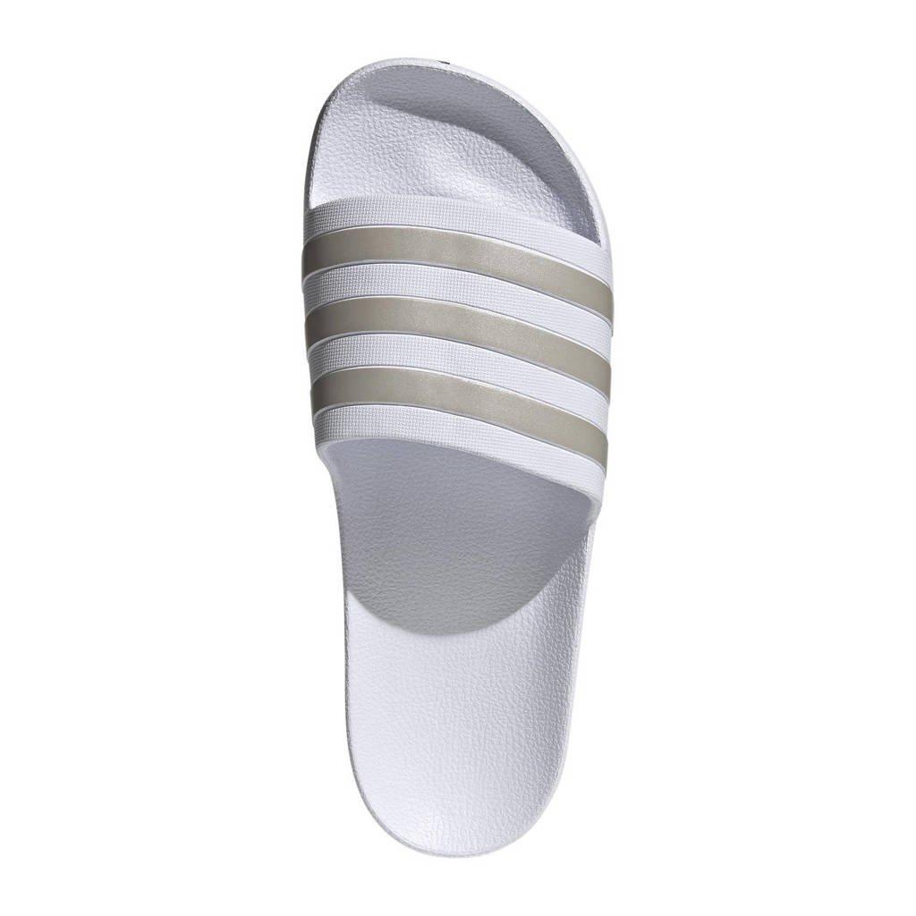 adidas Performance Adilette Aqua slippers wit/goud, Wit/goud