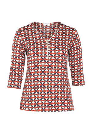 T-shirt met grafische print oranje