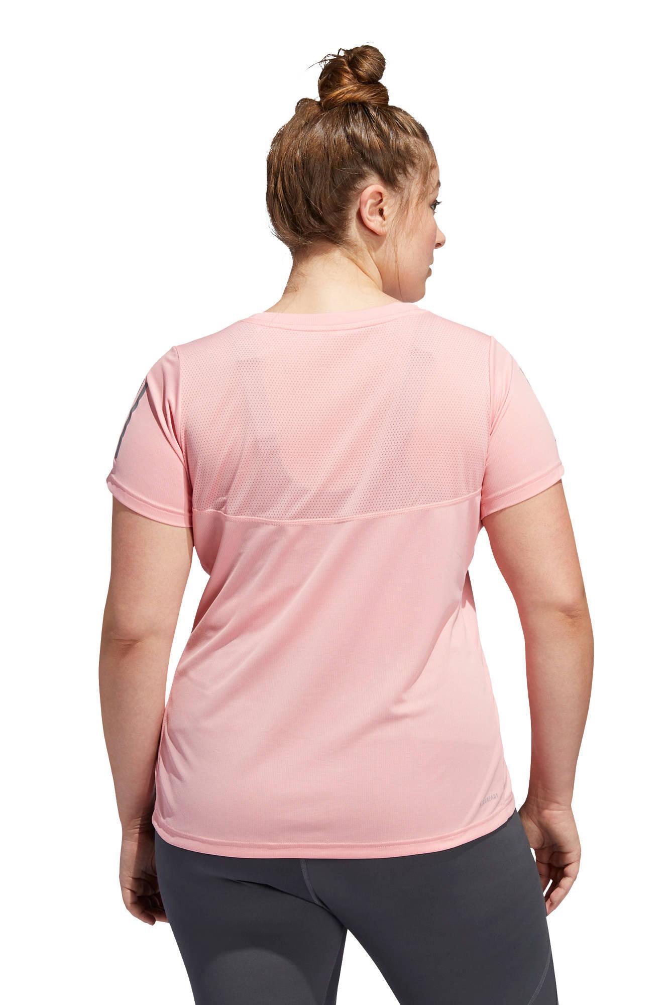Adidas Performance Plus Size Sport T-shirt Lichtroze FcgA3nyK