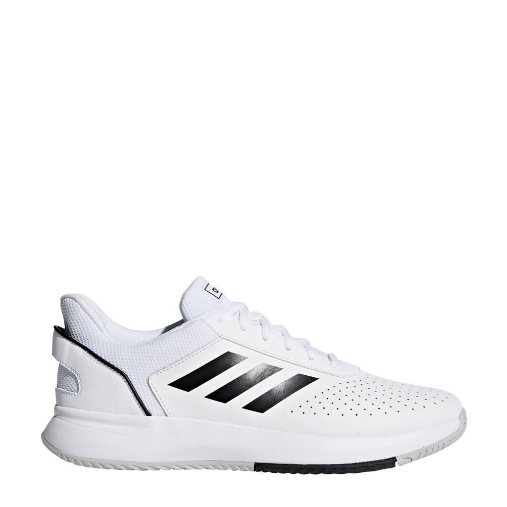 adidas Performance Courtsmash Classic tennisschoenen wit/zwart/grijs, Wit/zwart/grijs