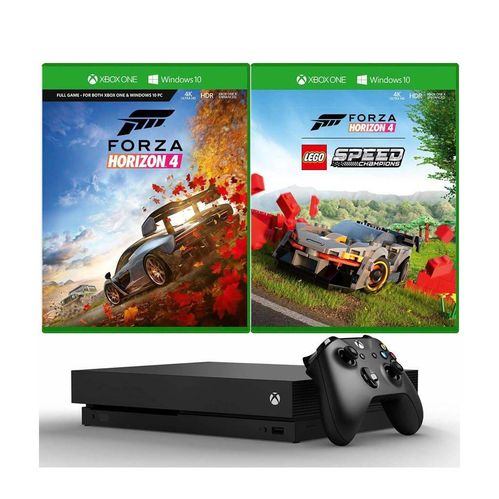 Microsoft Xbox One X 1 TB console + Forza Horizon 4 LEGO Speed Champions, Zwart