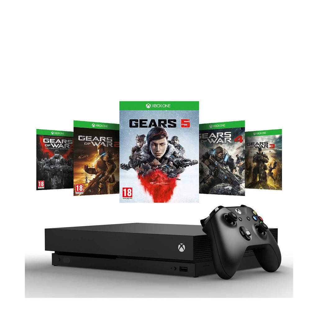 Microsoft Xbox One X 1 TB console + Gears 5 bundel, Zwart