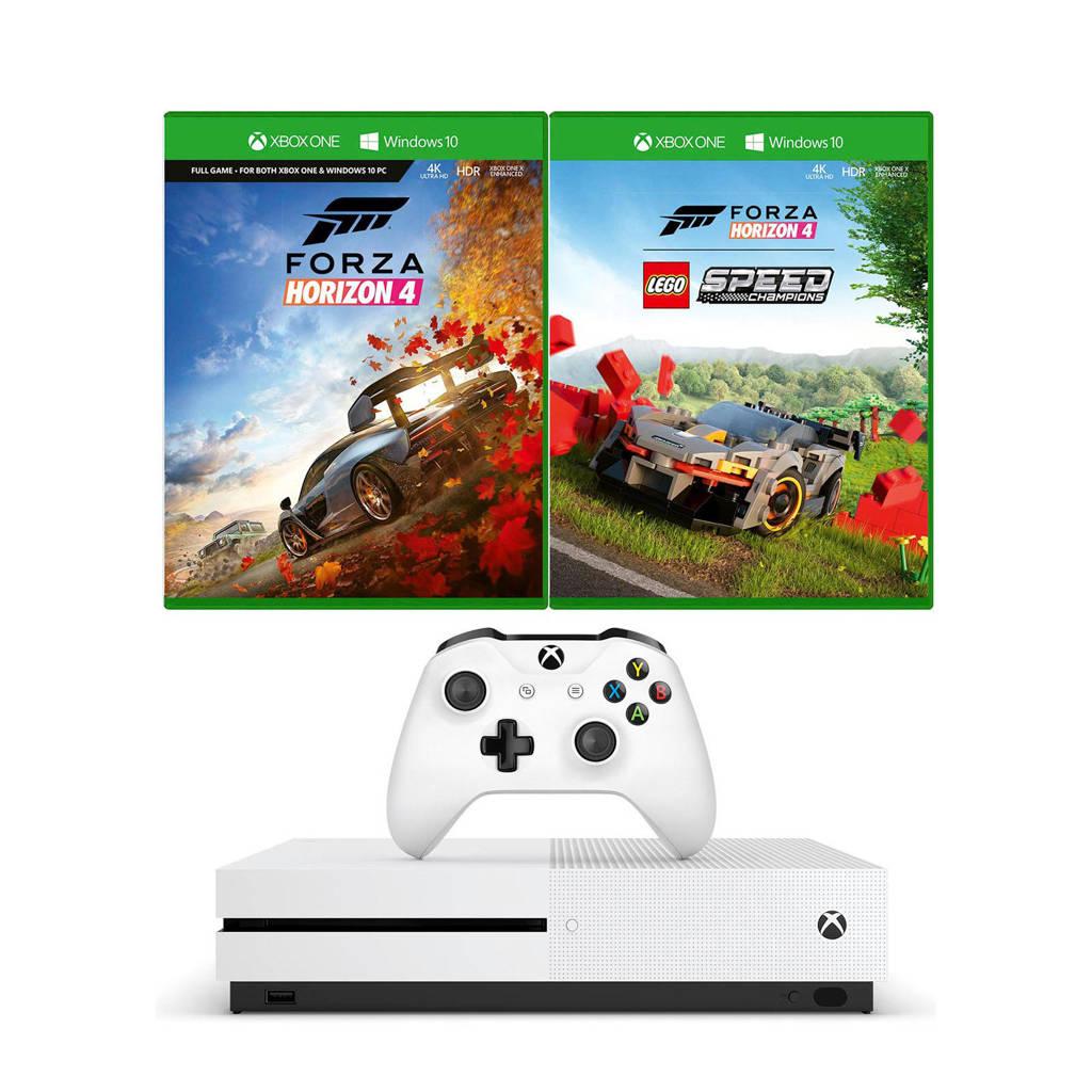 Microsoft Xbox One S 1 TB console + Forza Horizon 4 LEGO Speed Champions, Wit