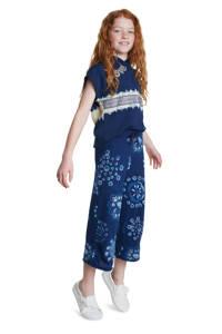 Desigual culotte met all over print donkerblauw/lichtblauw, Donkerblauw/lichblauw