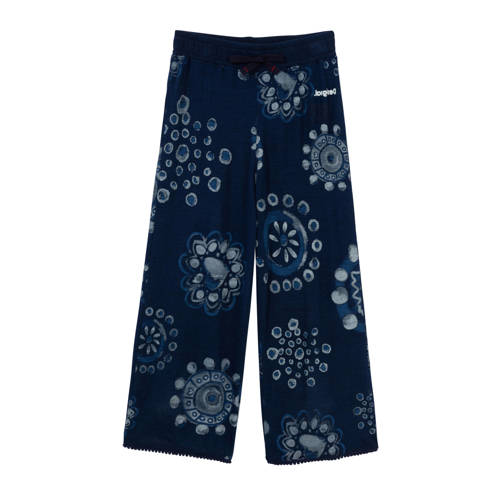 Desigual culotte met all over print donkerblauw/li