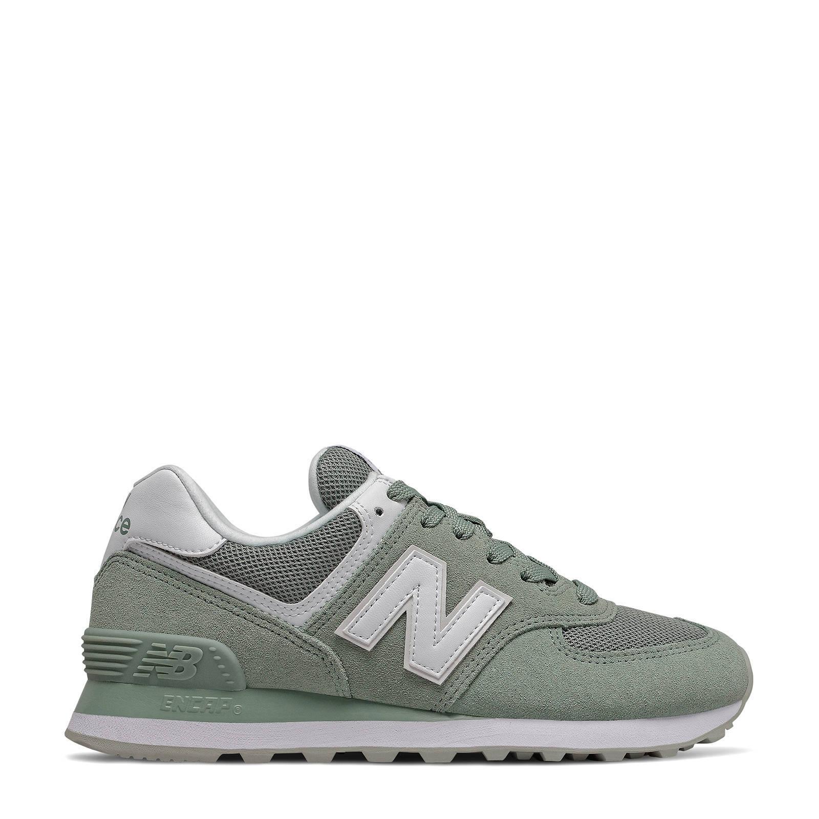 574 sneakers grijsgroen/wit
