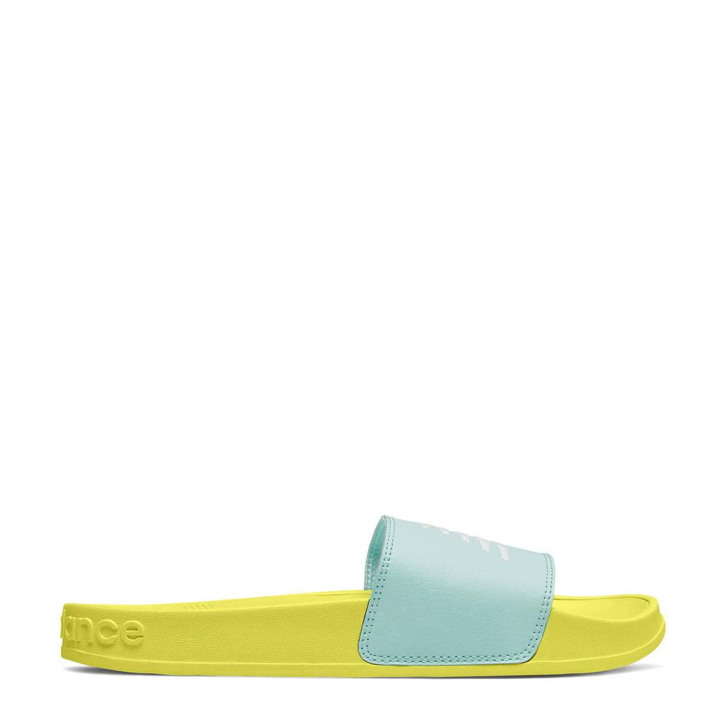New Balance 200  badslippers geel/mintgroen, Geel/mintgroen