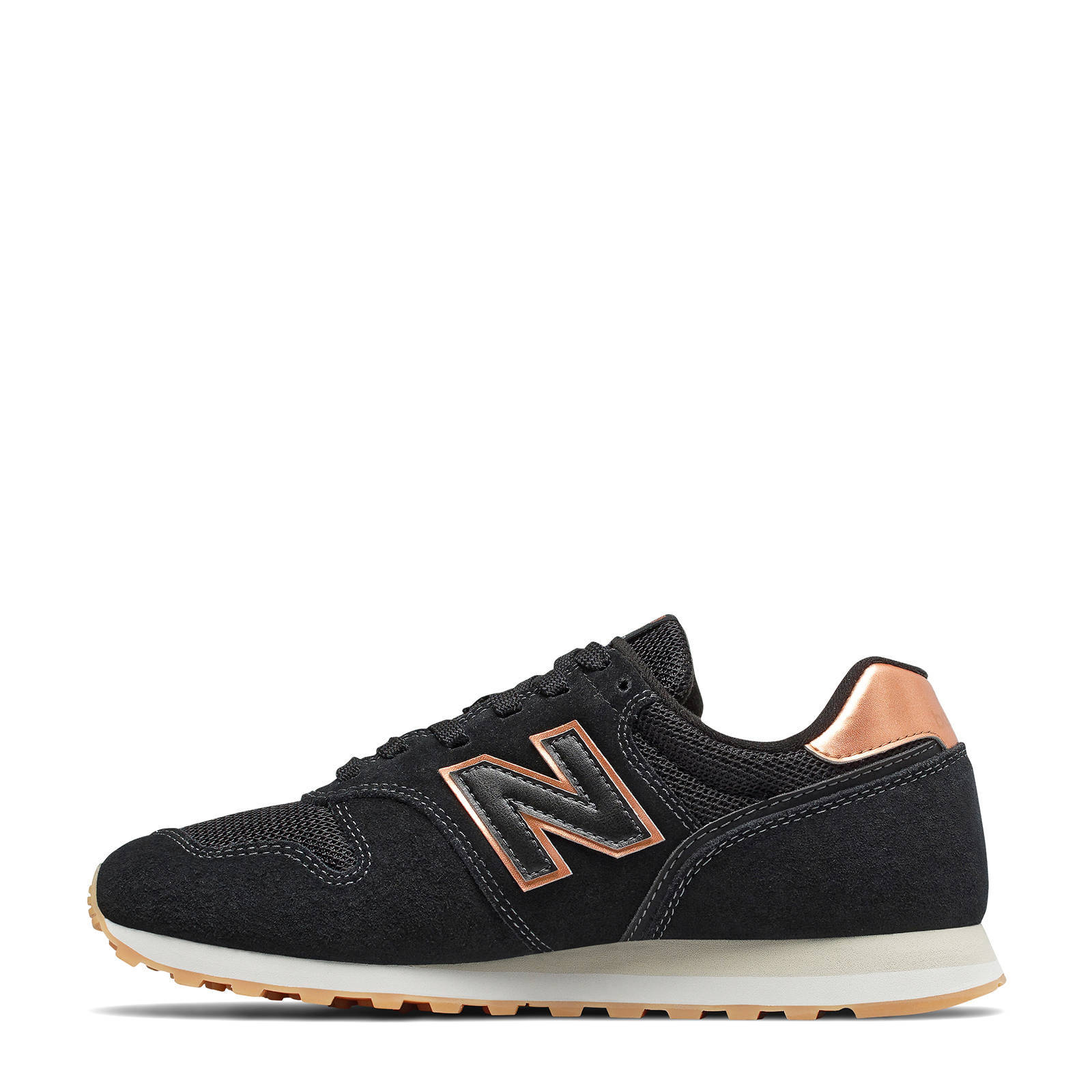 New Balance 373 sneakers zwart/koper | wehkamp