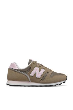 373  sneakers kaki/lichtroze