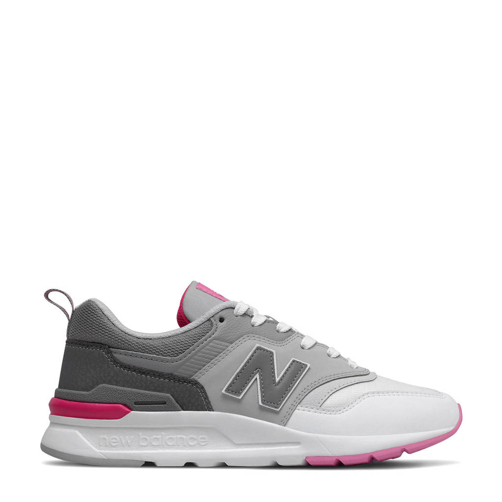 New Balance 997  sneakers grijs/roze/wit, Grijs/roze/wit
